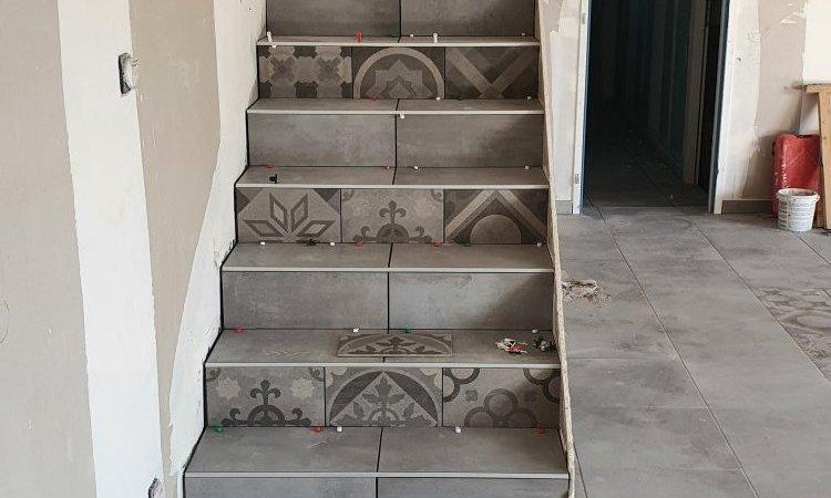 réalisation d'un escalier d'une maison neuve