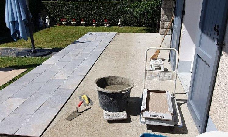 Aménagement de terrasse en carrelage Clermont-Ferrand